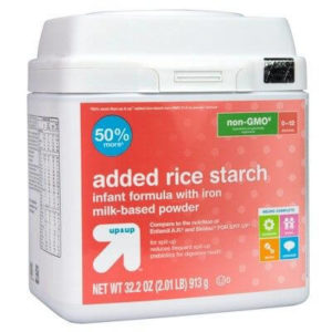 ADDED RICE STARCH BABY FORMULA